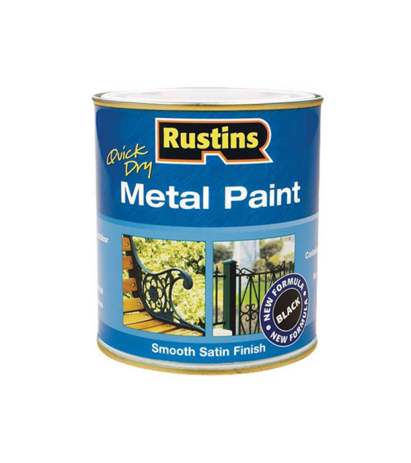Rustins Metal Paint 250ml Black Satin