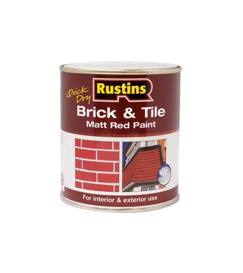 Rustins Brick/Tile Paint 250ml Red Matt