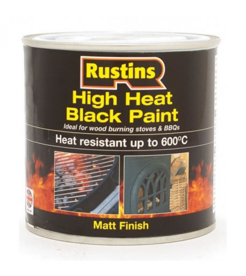 Rustins High Heat Paint 250ml Black