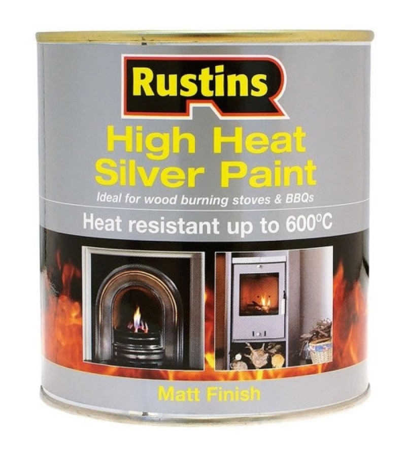 Rustins High Heat Paint 250ml Silver