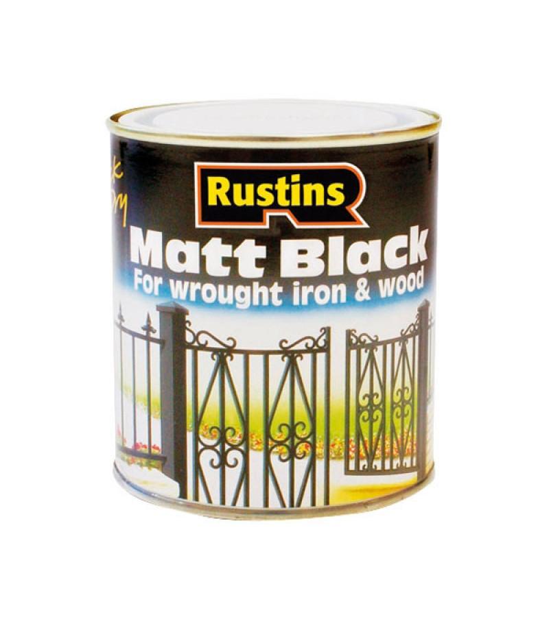 Rustins Quick-Dry Paint 1l Black Matt