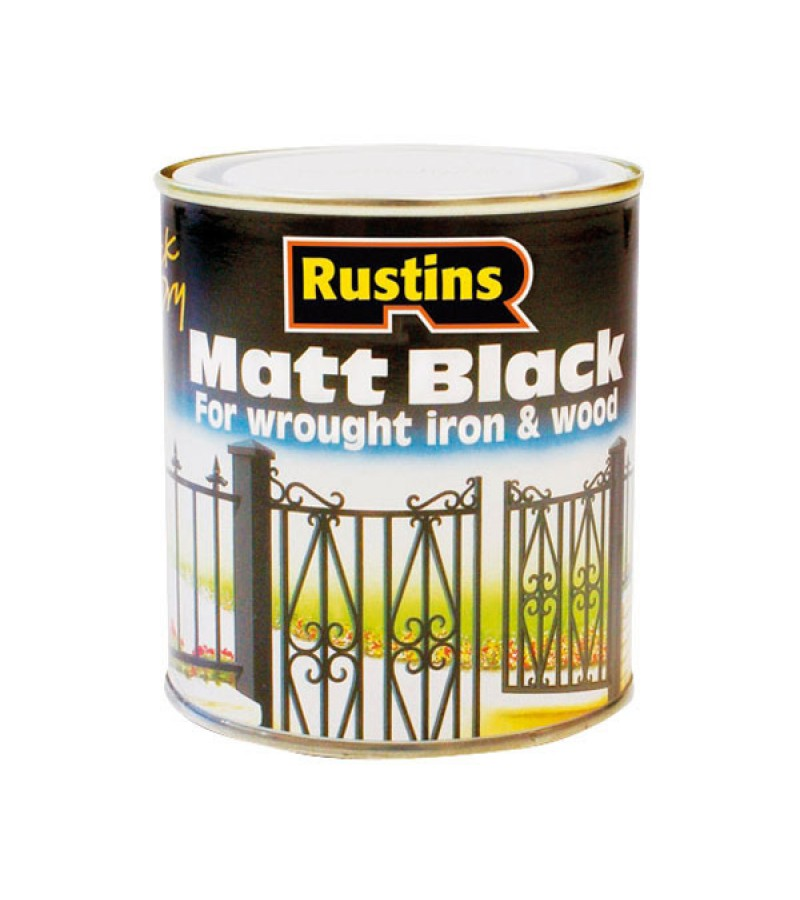 Rustins Quick-Dry Paint 500ml Black Matt