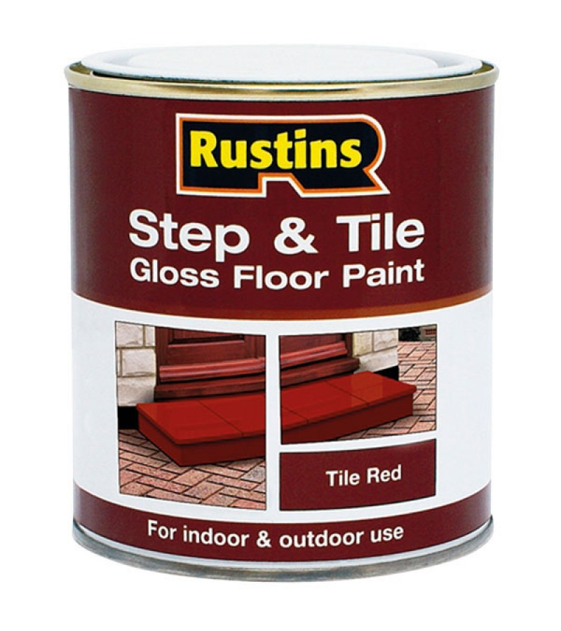 Rustins Step/Tile Paint 500ml Red Gloss