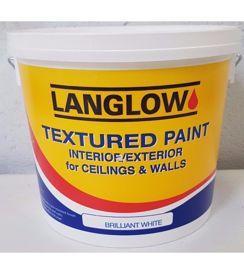 Langlow Textured Ceiling Paint 5L Brilliant White