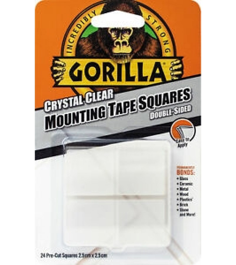 Gorilla Crystal Clear Mounting Tape Squares