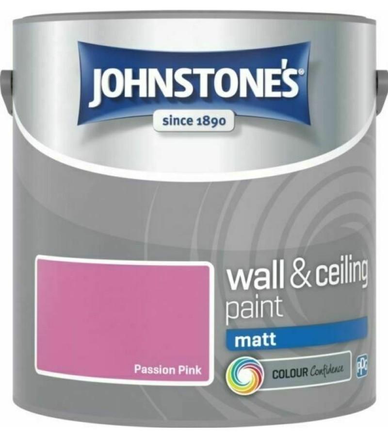 Johnstones Vinyl Emulsion Paint 2.5L Passion Pink Matt