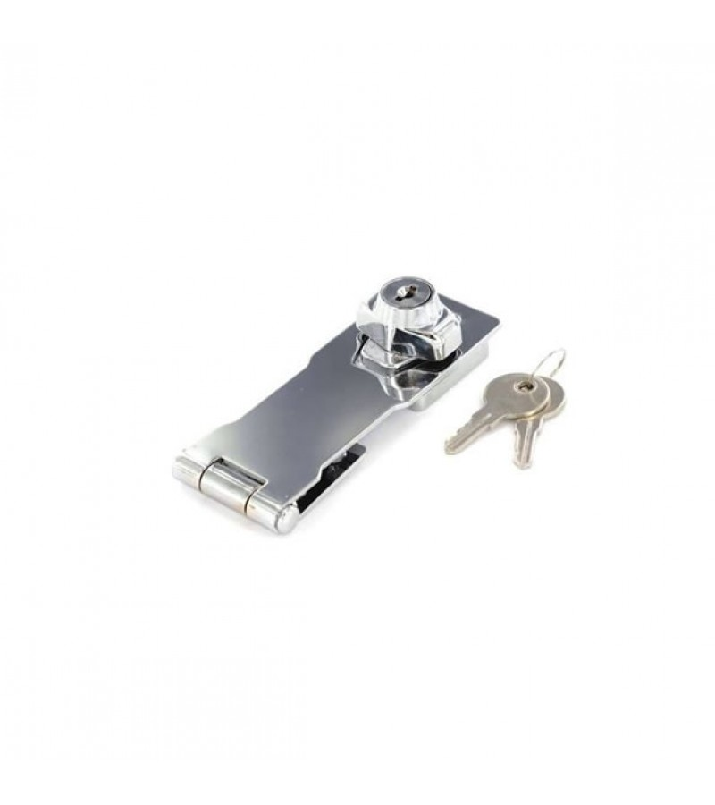 Securit S1481 Chrome Plated Locking Hasp Cylinder Action 115mm