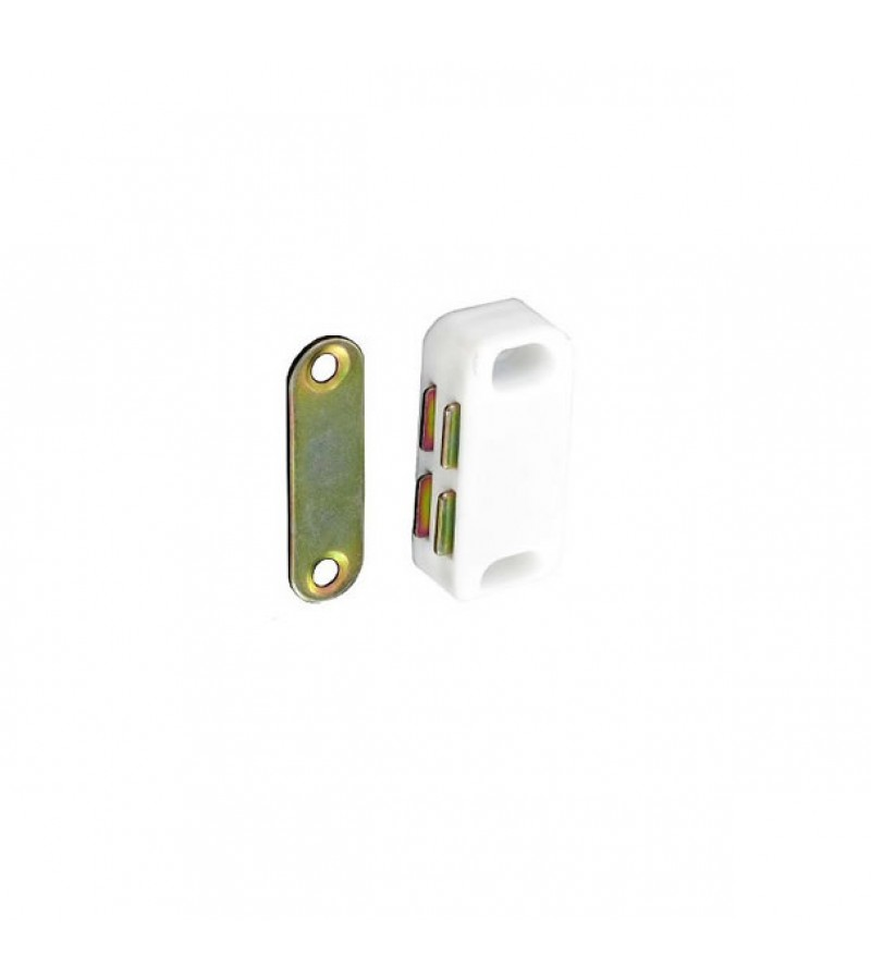 Securit  S5431 Magnetic Catch White (3 Pack)