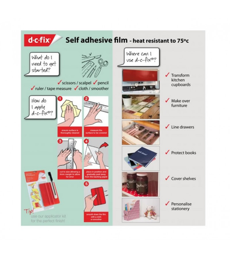 D-C-Fix Self Adhesive Film White Matt 45cm x 2m