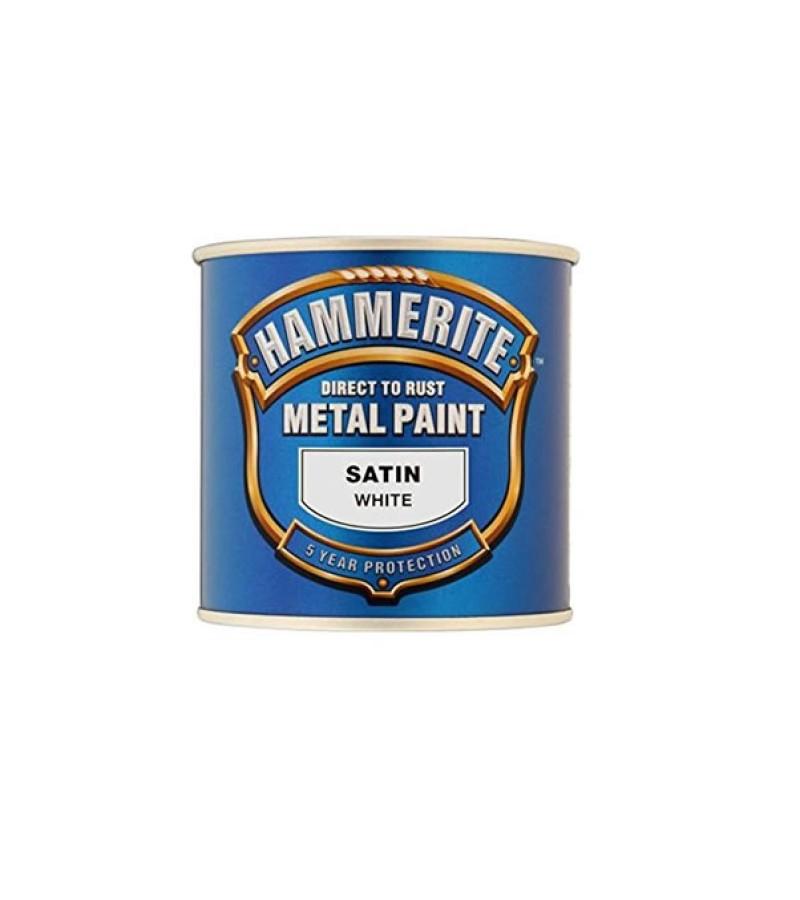 Hammerite Metal Paint 250ml White Satin