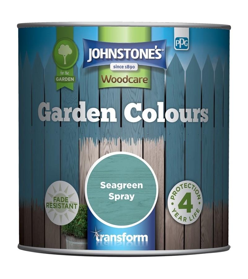 Johnstones Garden Colours Paint 1L Seagreen Spray