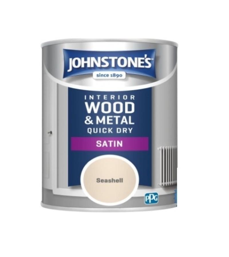 Johnstones Quick Dry Satin Paint 750ml Seashell