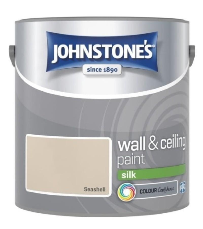 Johnstones Vinyl Emulsion Paint 2.5L Seashell Silk