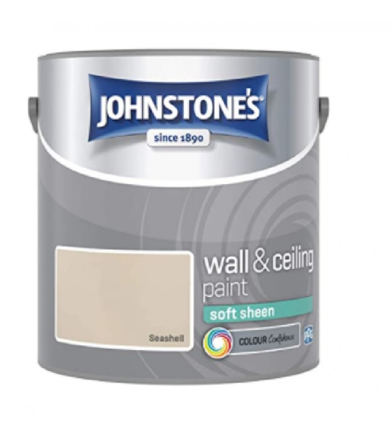 Johnstones Vinyl Emulsion Paint 2.5L Seashell Soft Sheen