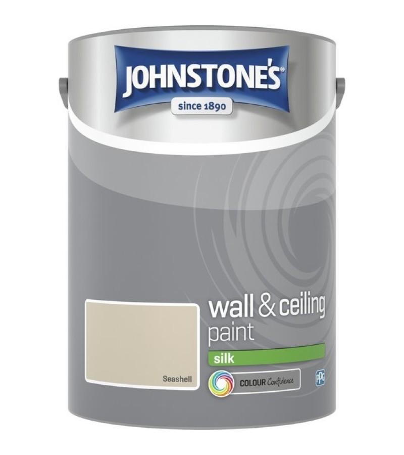 Johnstones Vinyl Emulsion Paint 5L Sea Shell (Silk)