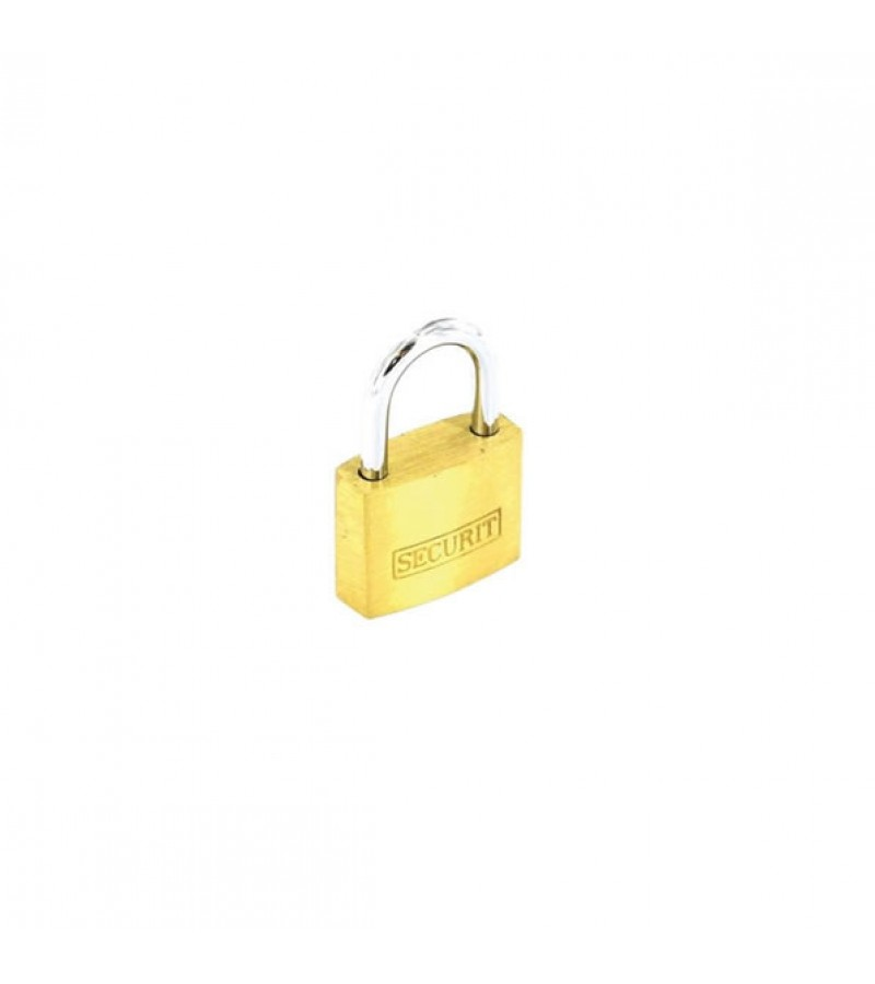 Securit S1151 Brass Padlock With 3 Keys 20mm