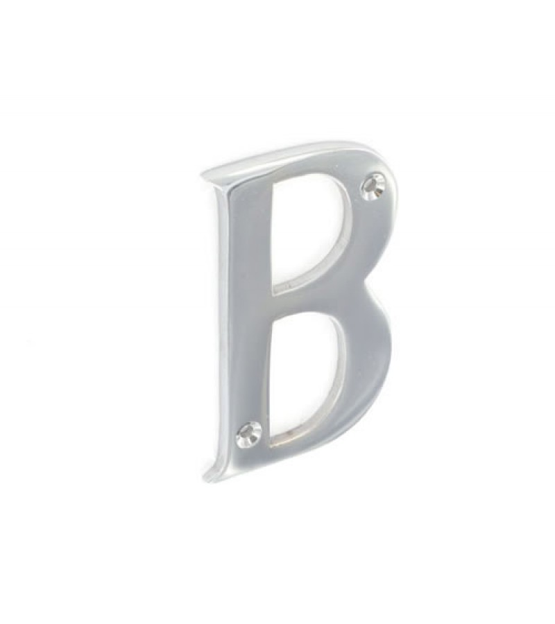 Securit S2959 Chrome Plated Letter B 75mm