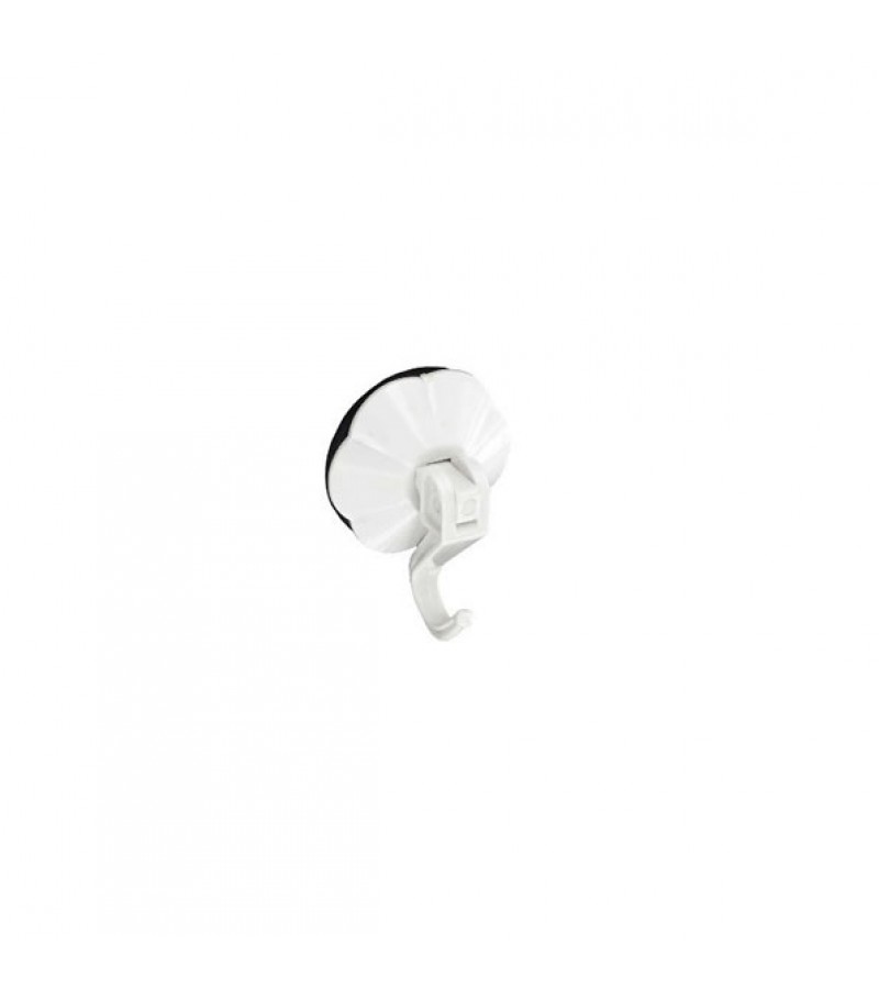 Securit S6375 Level Suction Hook White 50mm (2 Pack)