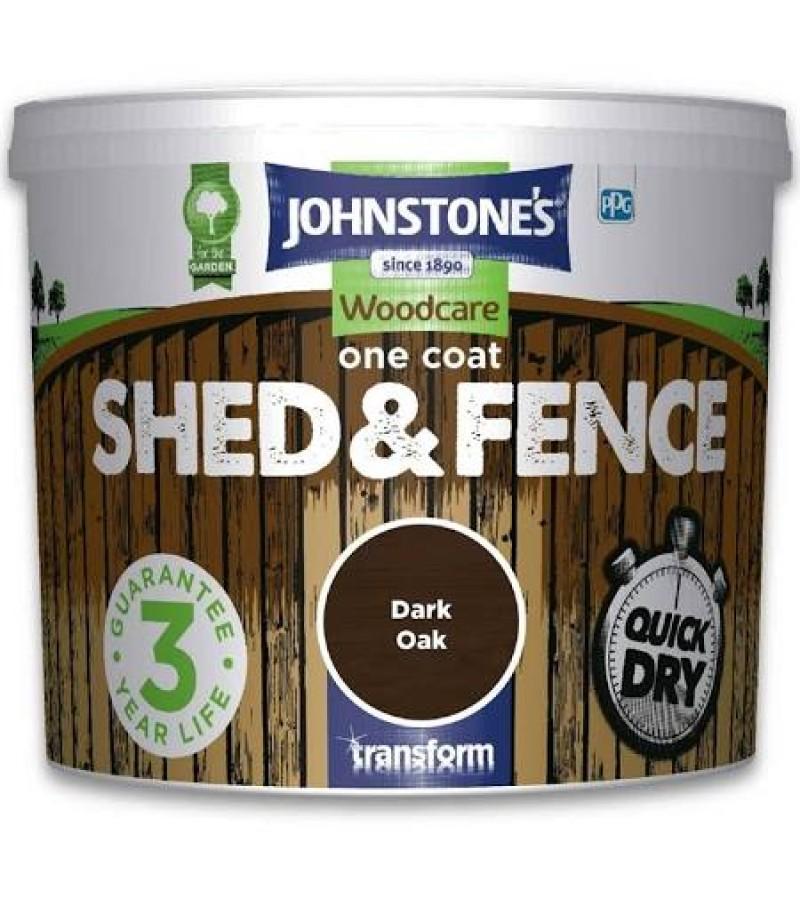 Johnstones One Coat Shed & Fence Paint 9L Dark Oak