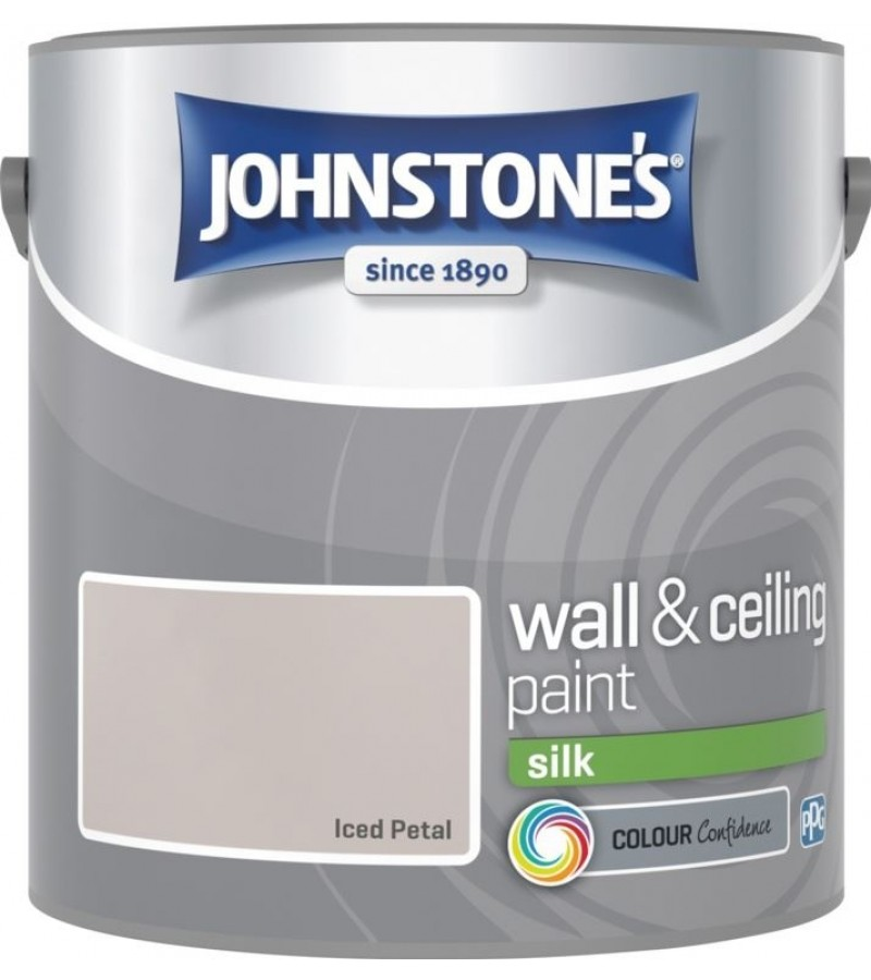 Johnstones Vinyl Emulsion Paint 2.5L Iced Petal Silk