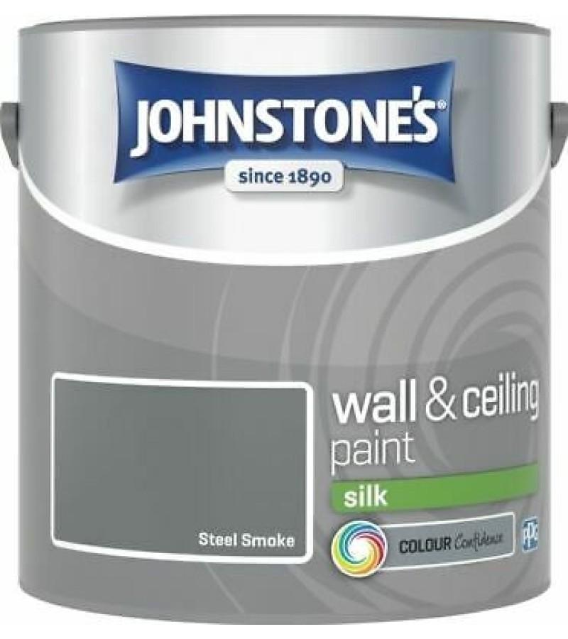 Johnstones Vinyl Emulsion Paint 2.5L Steel Smoke (Silk)