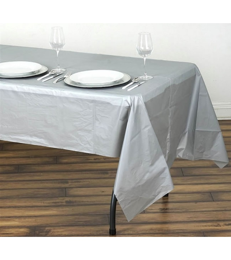 238 & Caroline Disposable Table Covers (2 Pack) Silver - Tony Almond
