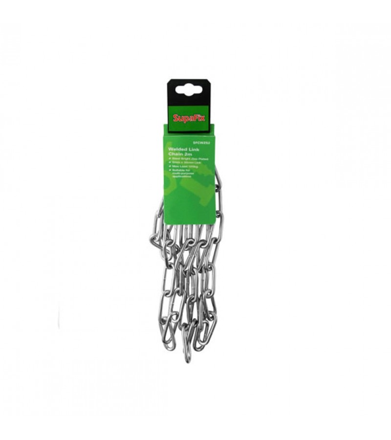 Supafix Welded Small Link Chain Zinc Plated 2m