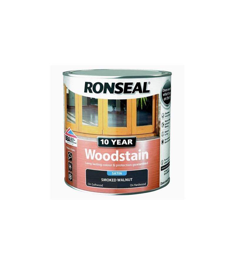 Ronseal 10 Year Woodstain Smoked Walnut Satin 250ml