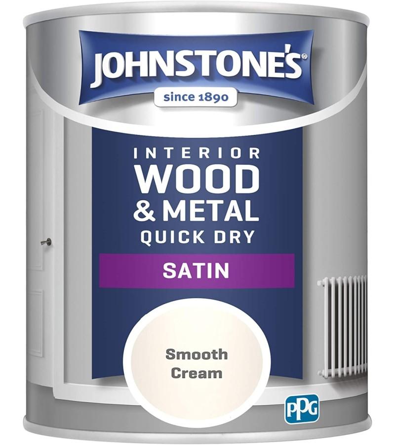 Johnstones One Coat Satin Paint 750ml Smooth Cream