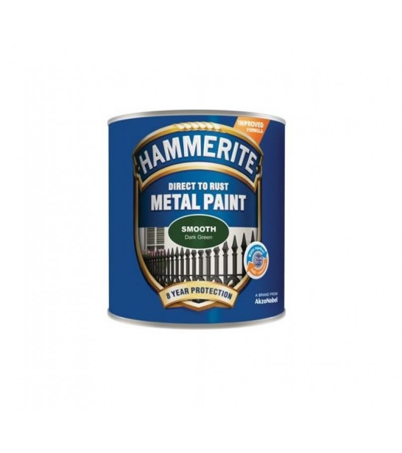 Hammerite Metal Paint 750ml Smooth Dark Green