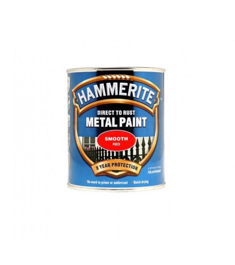 Hammerite Metal Paint 250ml Smooth Red
