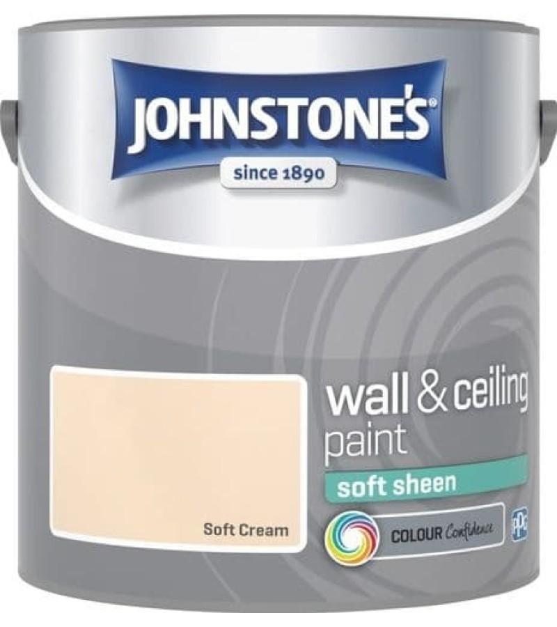 Johnstones Vinyl Emulsion Paint 2.5L Soft Cream (Soft Sheen)