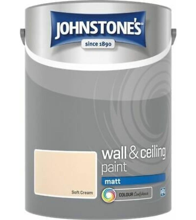 Johnstones Vinyl Emulsion Paint 5L Soft Cream Matt
