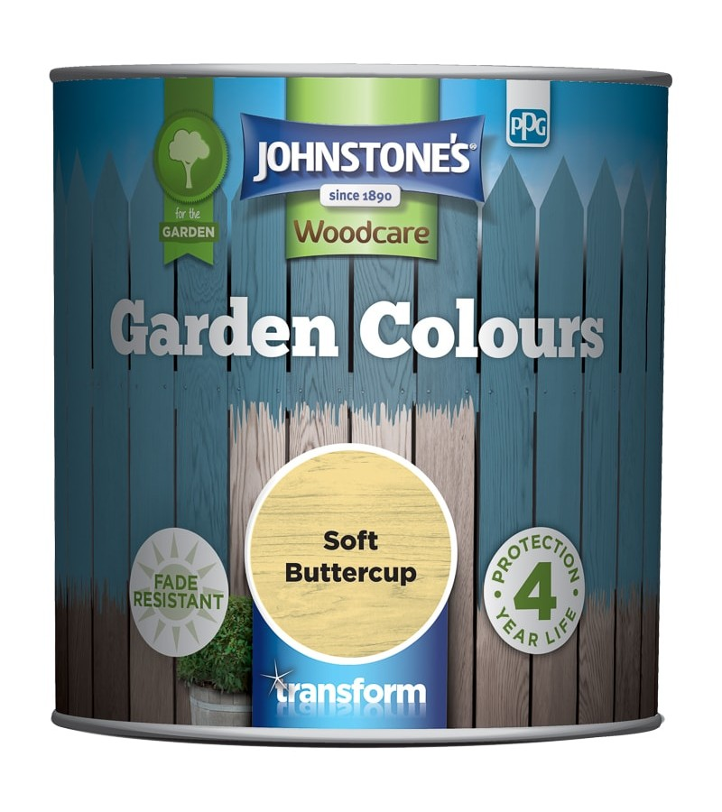 Johnstones Garden Colours Paint 1L Soft Buttercup