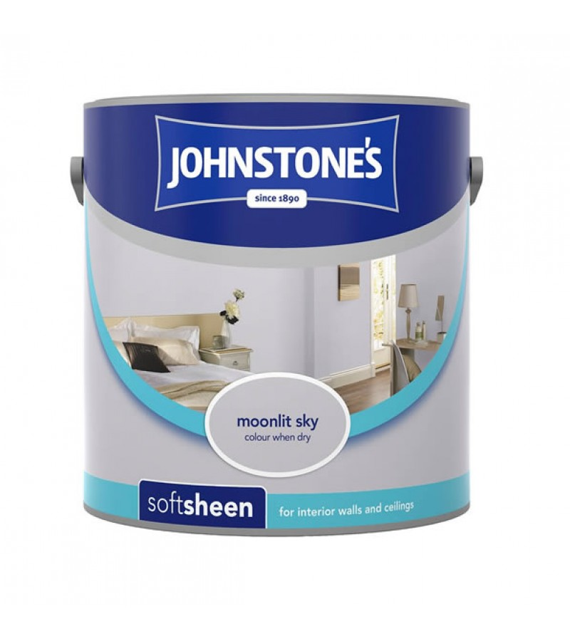Johnstones Vinyl Emulsion Paint 2.5L Moonlit Sky (Soft Sheen)