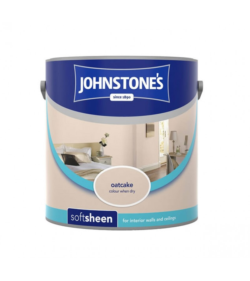 Johnstones Vinyl Emulsion Paint 2.5L Oatcake (Soft Sheen)