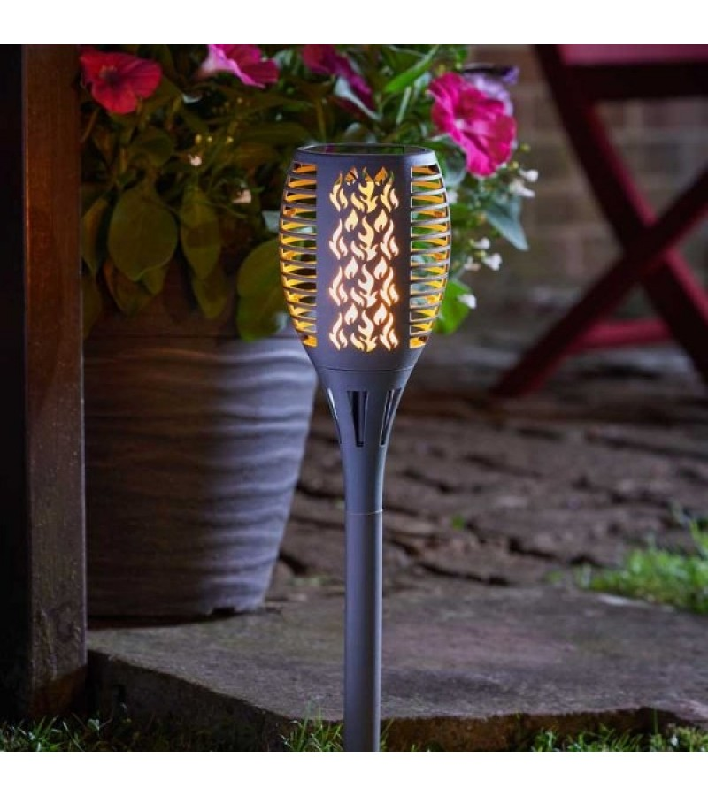 Solar Powered Compact Flaming Torch