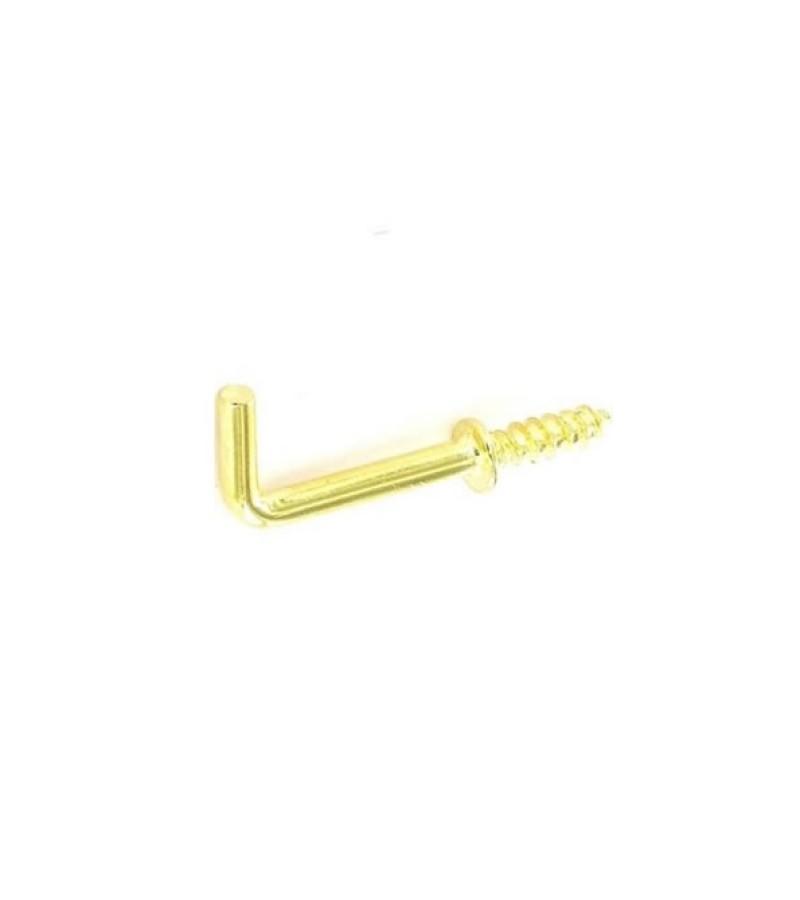 Securit S6319 Shouldered Square Hooks Brass 25mm (5 Pack)