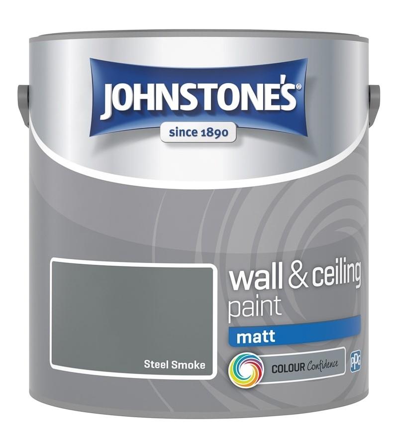 Johnstones Vinyl Emulsion Paint 2.5L Steel Smoke (Matt)