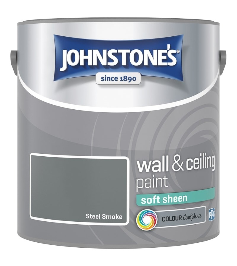 Johnstones Vinyl Emulsion Paint 2.5L Steel Smoke (Soft Sheen)