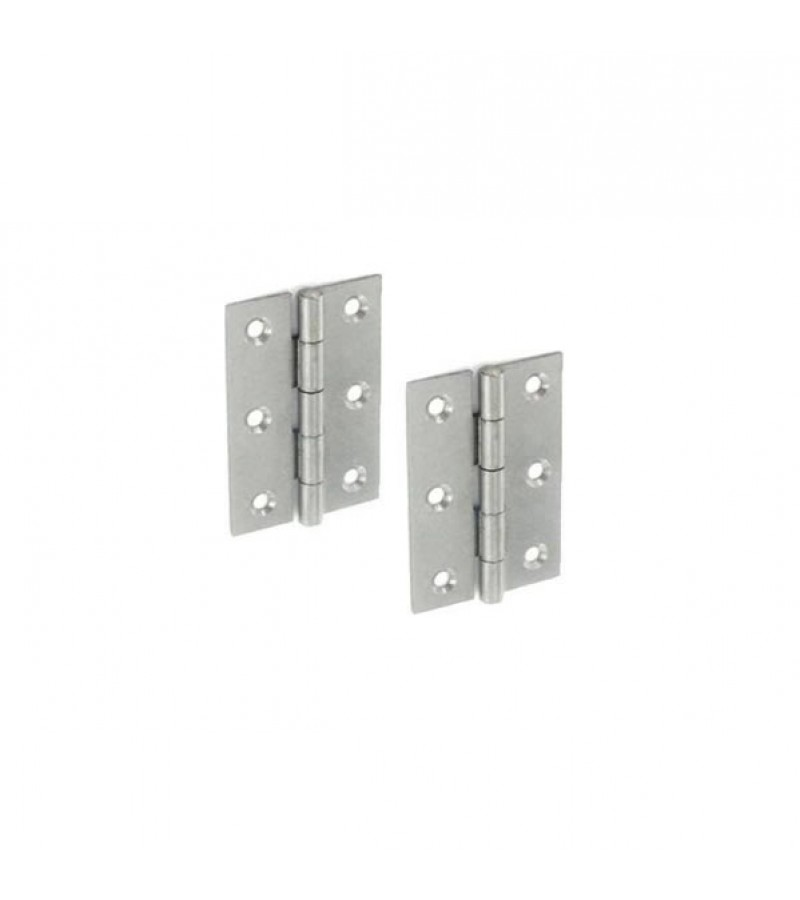 Securit S4315 Steel Butt Hinges 75mm (Pair)