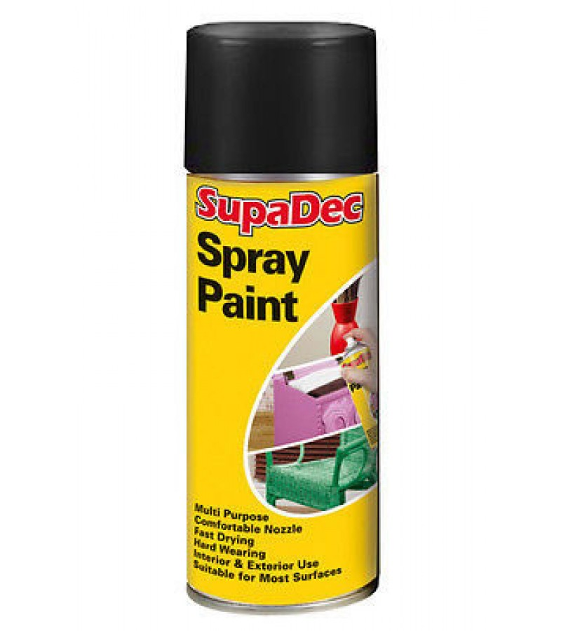 Supadec Spray Paint 400ml Black Gloss