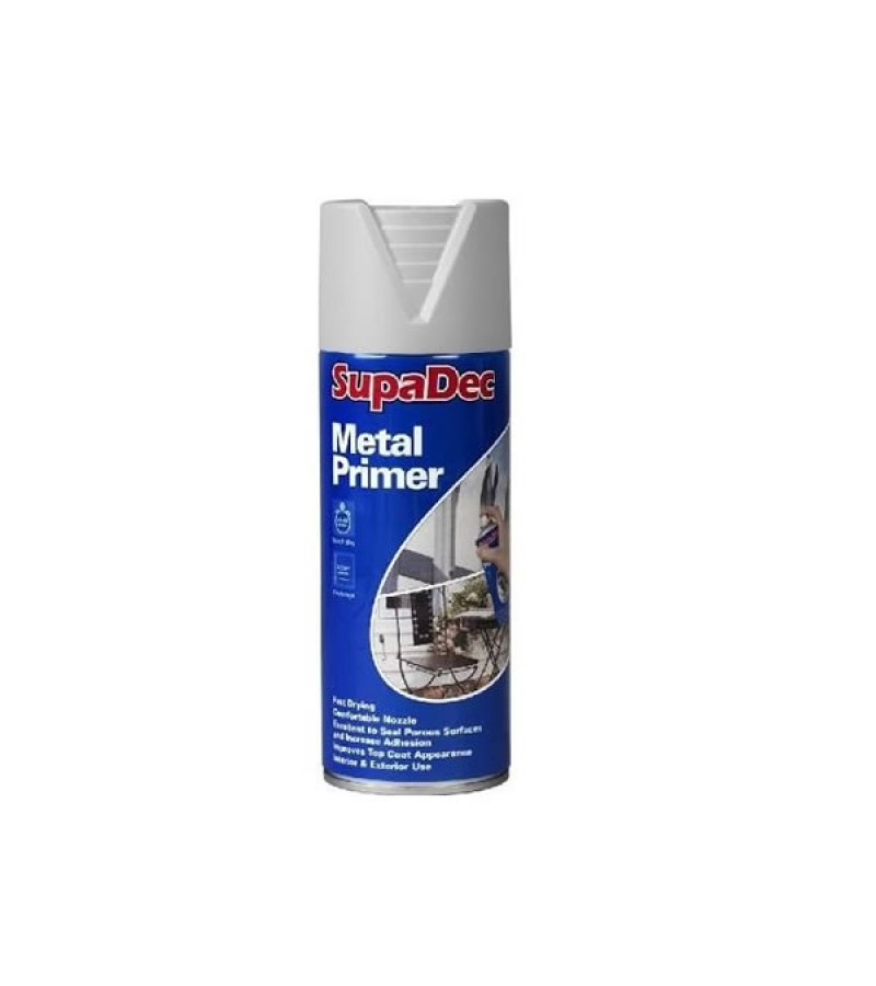 Supadec Metal Primer Spray Paint 400ml Grey