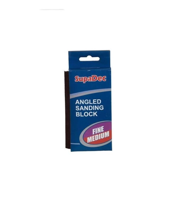 Supadec Fine/Medium Angled Sanding Block