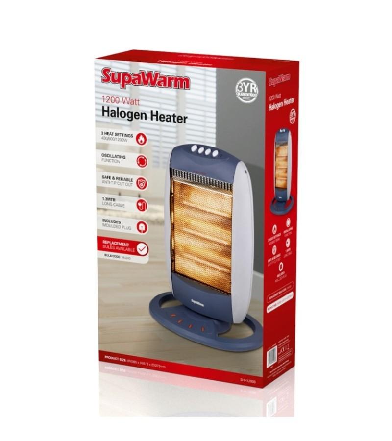 Supawarm Halogen Heater 1200w