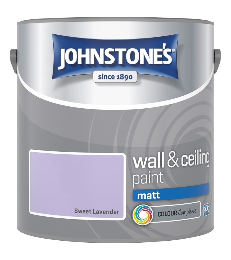Johnstones Vinyl Emulsion Paint 2.5L Sweet Lavender Matt