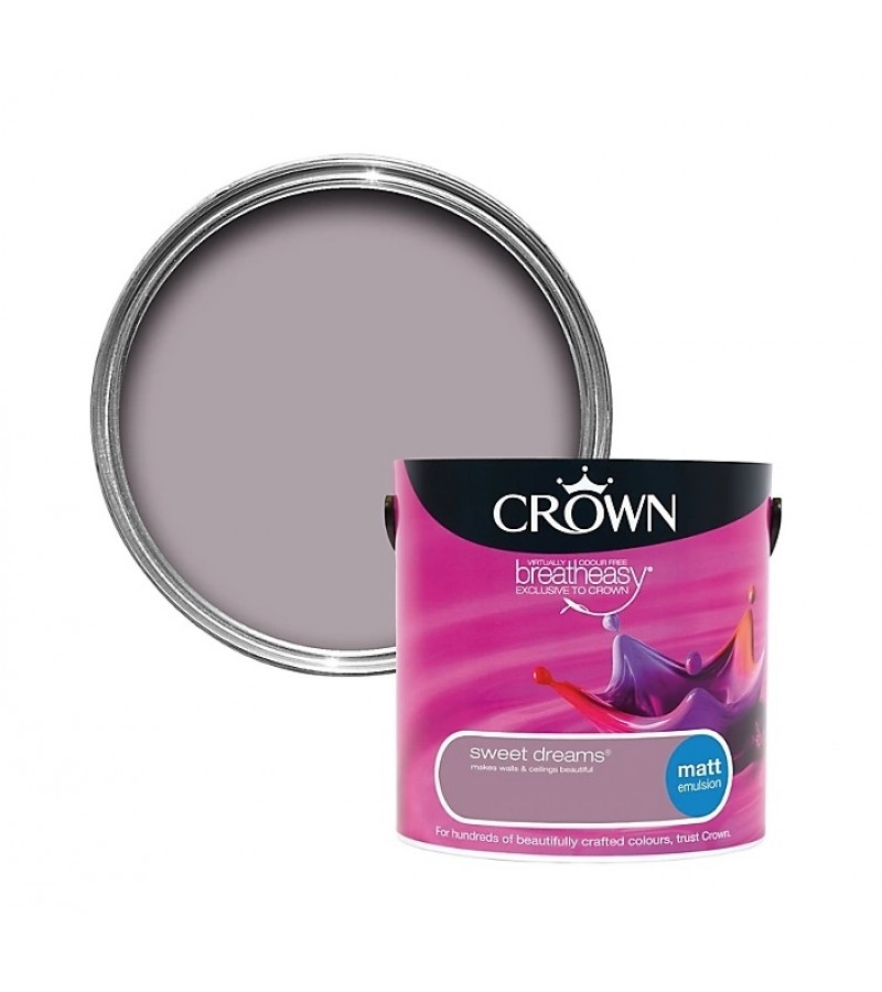 Crown Emulsion Paint 2.5L Sweet Dreams Matt