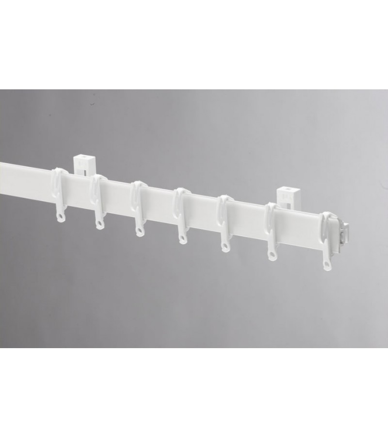 Swish Sologlyde PVC Curtain Track 125cm White