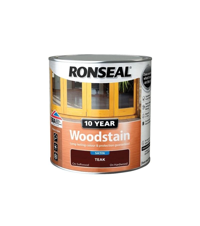 Ronseal 10 Year Woodstain Teak Satin 250ml