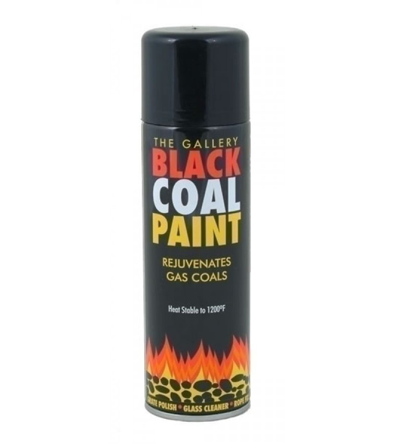 The Gallery Black Coal Spray Paint 300ml Black